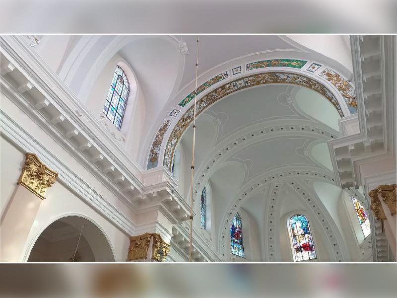 La peinture minérale KEIM OPTIL choisie pour la rénovation intérieure de l'église SAINT-PIERRE et SAINT-PAUL en Alsace - Batiweb