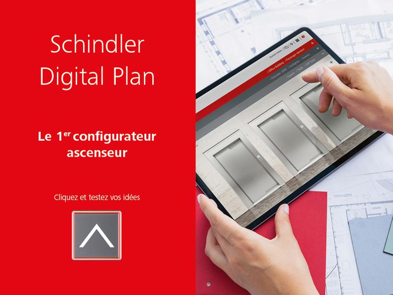 Un bon plan ? Concevez votre ascenseur idéal grâce au Schindler Digital Plan! - Batiweb