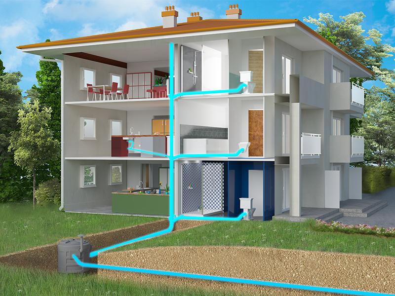 Spécial maisons individuelles et petits collectifs : SFA lance les Sanifos 610, de nouvelles stations à enterrer pour un relevage de toutes les eaux - Batiweb