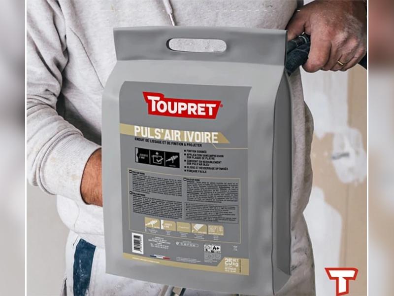 TOUPRET lance PULS'AIR®  IVOIRE, un nouvel enduit de lissage et de finition en pâte à projeter - Batiweb